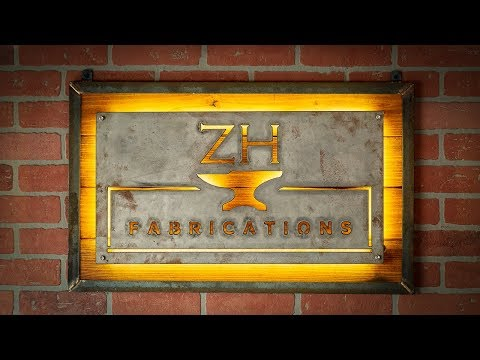 Industrial backlit LED sign | wood & steel
