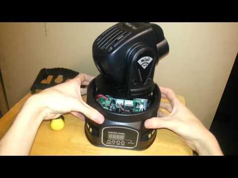 15W RGB LED Mini Moving Heads (Model P046) Unboxing & Teardown, Plus Quality Analysis & Demo