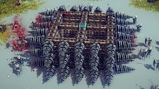 Using an Excessive Amount of Physics to destroy everything in Besiege