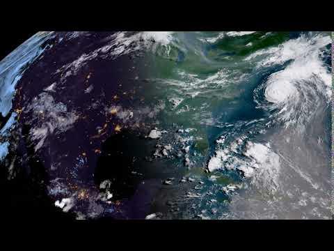 GOES-16 CONUS - 2018/07/11 (Hurricane Chris)