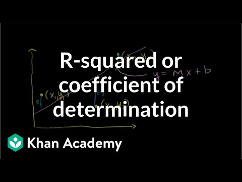 R-squared or coefficient of determination | Regression | Probability and Statistics | Khan Academy