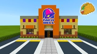 "Minecraft Tutorial: How To Make A Taco Bell (Restaurant) ""2019 City Tutorial"""