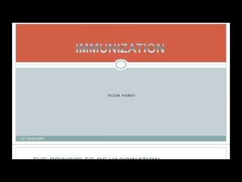 Immunization By Dr. Reem Hamdi مبدعووون 2017