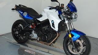 10. 2013 BMW  F 800 R in Racing Blue/Alpine White: Quick Look & Listen