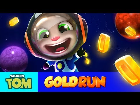 Talking Tom Gold Run – Tom Goes to Space (New Update) (видео)