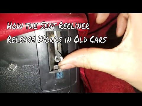 How this Seat Recliner, or Seat Release Works