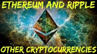 Other Cryptocurrencies (Altcoins): Ethereum and Ripple Part 11 http://www.financial-spread-betting.com/academy/bitcoin.html PLEASE LIKE AND SHARE THIS VIDEO SO WE CAN DO MORE!Most altcoins are scams / pump & dump schemes.  90% percent will or have already failed.  But here are some of those that appear promising:Ethereum - www.ethereum.org A custom built blockchain for smart contracts:- Peer-to-peer betting: https://augur.net/ - Identity / reputation- Insurance / legal contracts- Proven to be very popular with developers who are building a variety of applications upon it:Ripple - www.ripple.com- Initially intended for interbank payments - competitor to SWIFT- Remittance of any fiat currency, cryptocurrency, commodity, air miles, mobile minutes- Does not consume energy like Bitcoin mining does- There is a set one-time creation of 100 billion units- Transaction time between 2 - 5 mins- 15 of the world's 50 largest banks are signed up