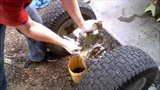 10. 1 Hydrostatic Garden Tractor transmission rebuild 1 of 4 Hydro Gear