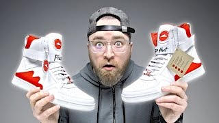 Video These Pizza Hut Shoes Will Order Pizza For You… MP3, 3GP, MP4, WEBM, AVI, FLV Juli 2018
