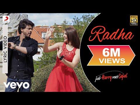 Radha Lyric Video - Jab Harry Met Sejal|Shah Rukh Khan, Anushka|Sunidhi Chauhan|Pritam