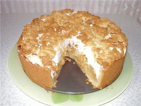 Пирог с яблоками с безе рецепт пошагово