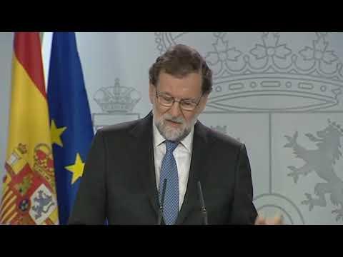 Mariano Rajoy explica las primeras medidas que se aplican del 155
