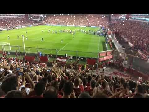Final de independiente  vs flamengo ida hinchada - La Barra del Rojo - Independiente