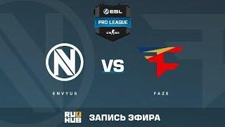 EnVyUs vs FaZe - ESL Pro League S6 EU - de_train [yXo, Enkanis]