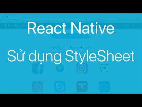 06-Sử dụng StyleSheet để tuỳ chỉnh giao diện
