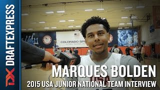 Marques Bolden 2015 USA Basketball Mini-Camp Interview