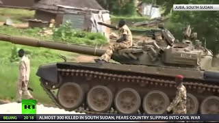 Fears are mounting that South Sudan - the world's youngest nation - could slip back into civil war, after almost three hundred people were killed in fighting...
