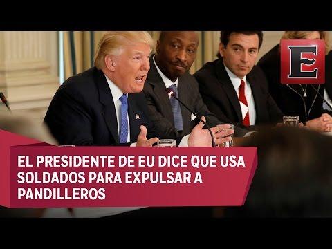 Trump afirma que deportación de indocumentados es una operación militar