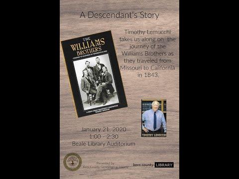 Historical Presentation by Author Timothy Lemucchi