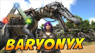 Baryonyx Tame & New Royalty Hairstyle!! - ARK Survival Evolved Ragnarok Map - Ep 6