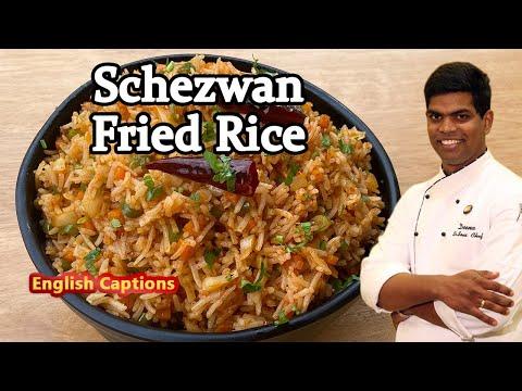 How to Make Schezwan Fried Rice | Restaurant Style Recipe In Tamil | CDK #222 | Chef Deena's Kitchen