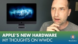Today was Apple's WWDC keynote. I was totally wrong again, I didn't expect many hardware upgrades or announcements and we got a bunch. Some nice spec boosts the the iMacs and MacBooks as well as some really nice iPad Pro updates. In this video I talk about my 7 takeaways from the keynote.-----------------------------------------------------GET MY PROCREATE COURSE FOR $10https://www.udemy.com/drawing-and-painting-on-the-ipad-with-procreate/?couponCode=COMICCOLORING-----------------------------------------------------My Drawing Gear:Surface Pro 3 - https://alexa.design/2nyx5YGiPad Pro - https://alexa.design/2oSdp1RAdobe Photoshop and Illustrator- http://adobe.comAstropad - http://astropad.com/Procreate - http://procreate.art/Kyle's Brushes for Photoshop - https://www.kylebrush.com/My Video Gear: Camera - iPhone 6 (yeah, I know, but it works)iRig (connects mic to phone): https://alexa.design/2nyE6bNMic: Audio-Technica ATR2100-USB: https://alexa.design/2oYRZQnGrip tight phone mount: https://alexa.design/2nyFyLtRing Light: https://alexa.design/2orOaThTiny lil tripod thingy: https://alexa.design/2nW3fIFMy Twitter: https://twitter.com/bradcolbowMy Patreon: https://www.patreon.com/bradcolbowMy Drawing and video gear: http://bradcolbow.com/mygear/Sign up for the newsletter:http://whichdrawingtablet.com/newsletter-signup/