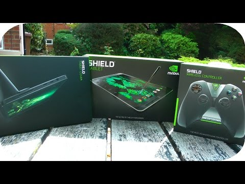 Nvidia Shield Tablet + Controller + Case Unboxing!