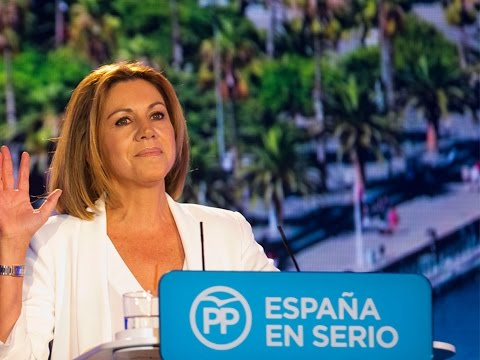 """Cospedal: """"El PP y Mariano Rajoy somos la garantía del futuro de nuestro país"""""""