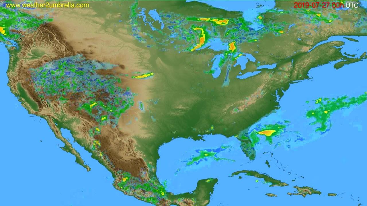 Radar forecast USA & Canada // modelrun: 12h UTC 2019-07-26