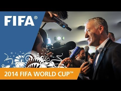 France's Didier DESCHAMPS Final Draw reaction (French)