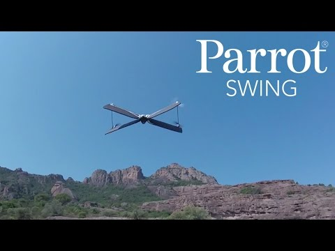 Parrot Swing + Flypad designed for aerial acrobatics and high-speed racing