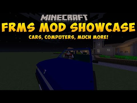 Minecraft: MOD SHOWCASE - #1 - FRSM MOD!!! COMPUTERS, CARS AND MORE!