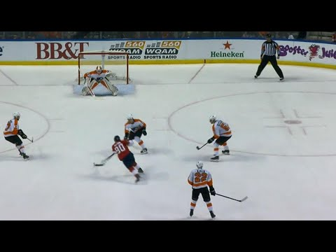 Video: Panthers' McCann glides by Simmonds, snipes one past Elliott