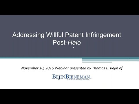 Addressing Willful Patent…