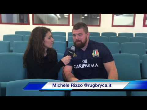 6 Nazioni 2015: Michele Rizzo prima di Italia-Galles