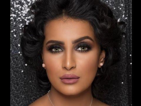 مكياج سموكي على العنود الحربي مع خبيرة التجميل فاطمة الدوسري/smokey makeup with alanood alharbi (видео)