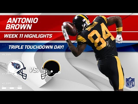 Video: Antonio Brown is Unstoppable w/ 10 Grabs, 3 TDs & 144 Yards | Titans vs. Steelers | Wk 11 Player HLs