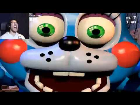 Markiplier Fnaf 1,2,3,4,HE,SL And SL CN Jumpscare Mega Montage