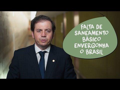 Rodrigo de Castro: Saneamento básico envergonha o Brasil