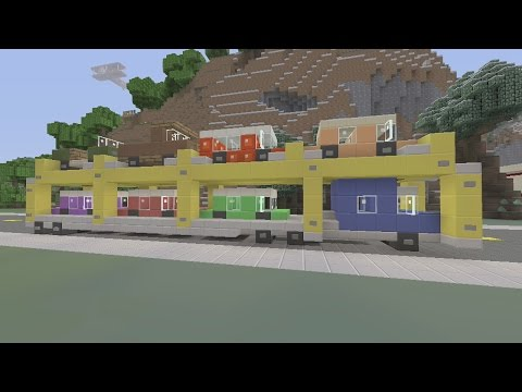SPANKLECHANK'S Minecraft Tutorials: How to make a Multi Car Carrier