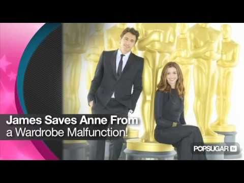 James Franco Saves Anne Hathaway From a Wardrobe Malfunction