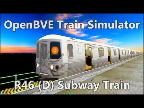 OpenBVE Train Simulator Gameplay - NYCT R46 (D) Subway Train