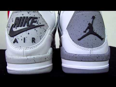 0 Air Jordan IV White/Cement   1999 vs. 2012 Comparison