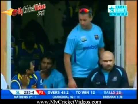 Senanayake gets off the mark in international cricket with a six to win the match (HQ)