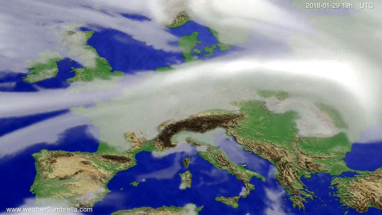 Cloud forecast Europe 2018-01-27