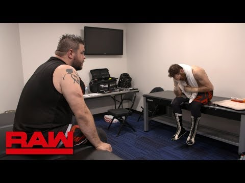 Sami Zayn feels the effects of Strowman & Lashley's onslaught: Raw Exclusive, April 24, 2018