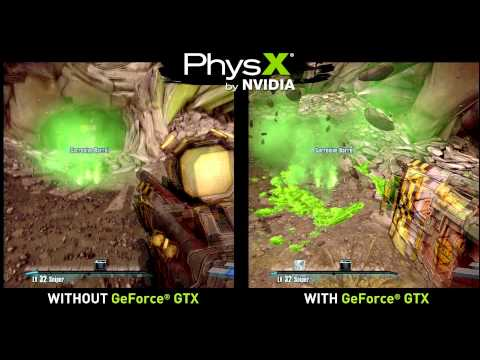 comparision - A look at the NVIDIA PhysX effects in Borderlands 2!