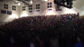 Evansville (IN) United States  city photos gallery : 900 Evansville Students Sing God Bless The USA
