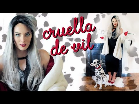 DIY CRUELLA DE VIL COSTUME TUTORIAL