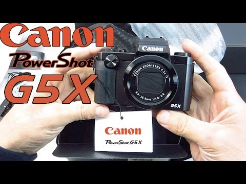 Canon PowerShot G5X Unboxing
